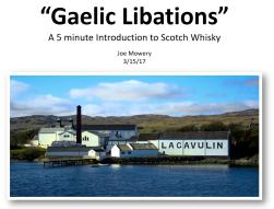 Gaelic Libations